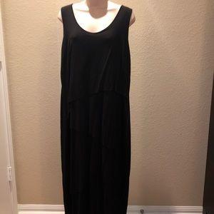 CATO - Black Dress w/ Cascading Tiers